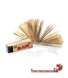 Filtros de cartón Raw. Cada librito de boquillas tienen 50 filtros 60 x 15 mm