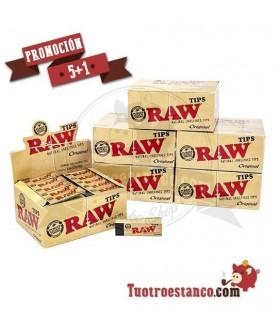 5 Estuches + 1 Gratis, Filtros de cartón Raw 6 estuches de 50 filtros