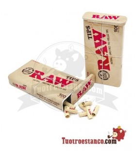 Filtros Raw Prerolled 100u + Cajita de metal