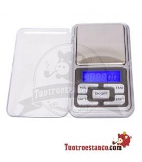 Báscula de bolsillo color Plata 0,1 gr a 500 gr