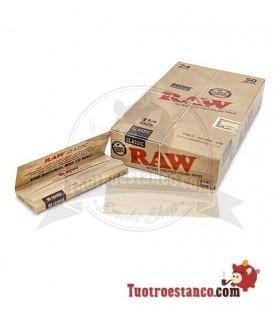 Papel RAW 1 1/4 de 78 mm - 24 libritos (50 hojas)