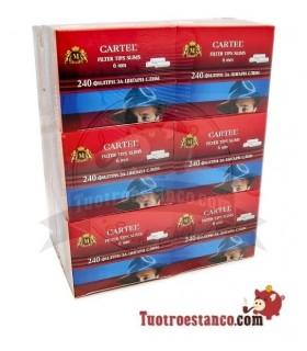 Filtros Cartel 6 mm - 12 cajitas de 240 filtros