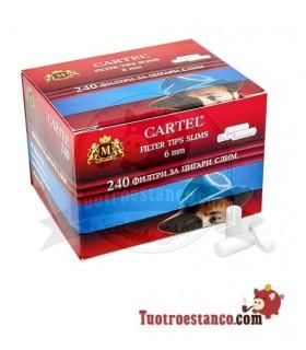 Filtros Cartel 6 mm Cajita 240 filtros