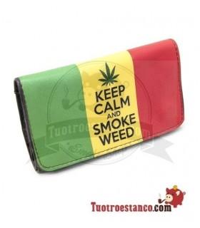 Porta tabaco Siesta Piel Keep Calm