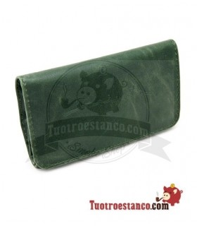 Porta tabaco Piel la Siesta Verde