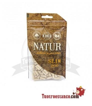 Filtros orgánicos 6 mm Natur 200 filtros