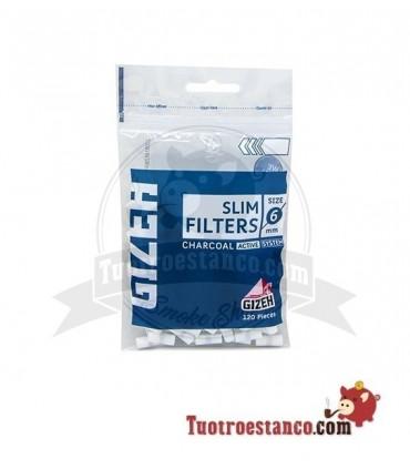 Filtros Gizeh 6 mm de Carbón 120 filtros