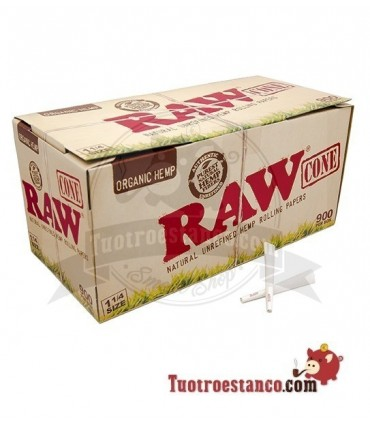 Conos Raw Orgánico 1 1/4 900 Unidades