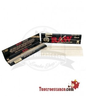 Papel Raw Black Edition King Size 32 hojas