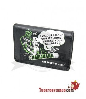 Porta Tabaco Piel Mini La siesta Marijuana