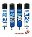 Clipper Micro Blue Skulls