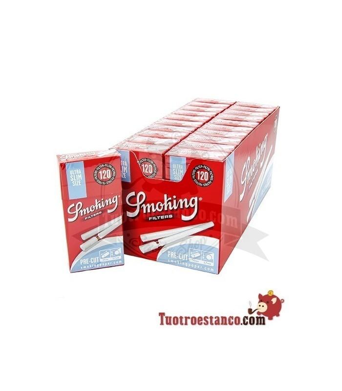 Filtros Smoking precortados de 5,7 mm - 20 cajitas de 120 filtros
