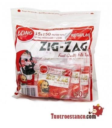 Filtros ZigZag Long 8mm 15 bolsitas de 150 filtros
