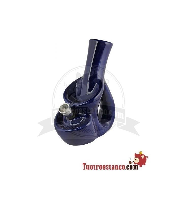 Bong de cerámica Vuelta azul 19,5 cm