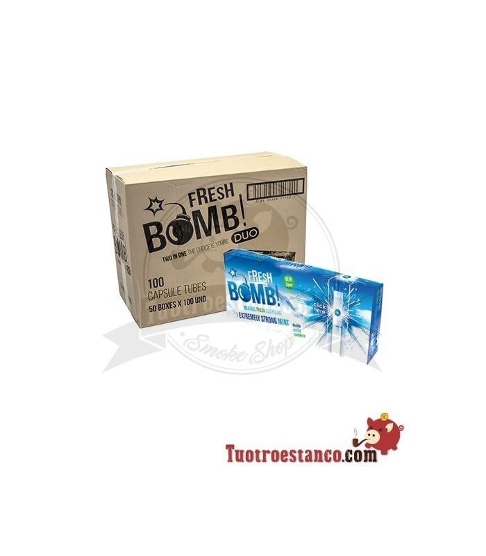 Tubos Fresh Bomb! Menta Fuerte Artic 50 cajitas de 100 tubos (Cajón)