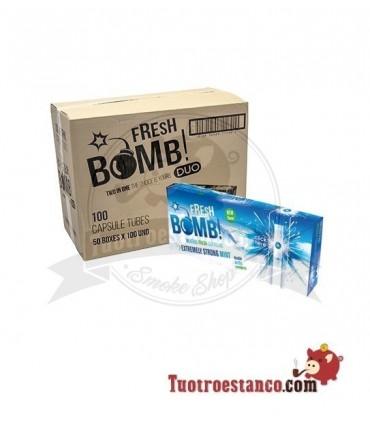 Tubos Fresh Bomb! Menta Fuerte Artic - 50 cajitas de 100 tubos (Cajón)