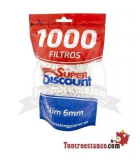Filtros SuperDisccount Slim 6mm 1000 filtros! Bolsa XL