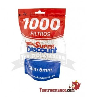 Filtros SuperDiscount Slim 6mm 1000 filtros! Bolsa XL