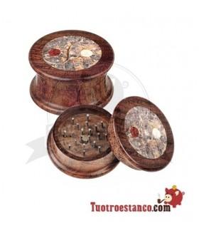 Grinder Ying Yang Mix Madera y Piedra 2 Partes 50mm