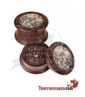 Grinder Hoja Mix Madera y Piedra 2 partes 55mm