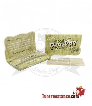 Papel Pay-pay Alfalfa verde Doble ventana de 70 mm
