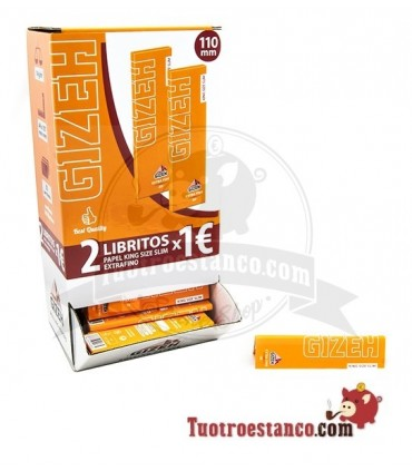 Expositor Papel Gizeh King Size Slim de 110mm - 100 libritos