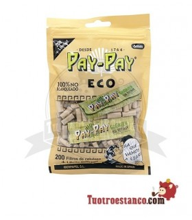 Filtros Pay-Pay 6 mm Orgánicos 200 Filtros + 1 Librito GoGreen 70 mm