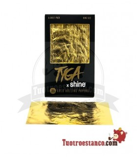Papel Shine Oro King Size de 110mm - 6 hojas