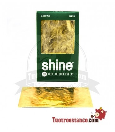 Papel Shine Oro y Cáñamo King Size - 6 hojas