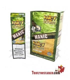 Papel de cañamo Juicy Blunt Manic Mango papaya - 25 unidades