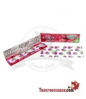 Papel Juicy Jay 1 King Size 110  mm sabor Frambuesa