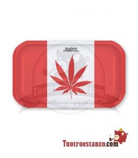 Bandeja Metálica Canada Flag 27,5 x 17 cm