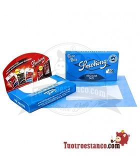 Smoking 200 blue Caractericticas: Papel traslucido y mide 70 mm de largo