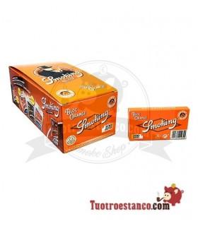 Papel Smoking Naranja 200 de 70 mm - 20 libritos
