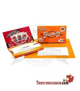 Papel Smoking Naranja Doble Ventana de 70 mm