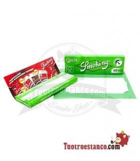 Smoking Nº8 Green. Es un papel de 18g/m2. MIde 70x37mm