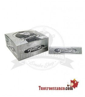 Papel Smoking Plata King Size de 110 mm - 50 libritos