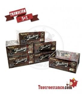 Papel Smoking Marrón King Size 5 Estuches + 1 Gratis - 300 libritos
