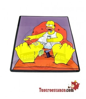 Alfombrilla Rectangular Homer Simpson Sillón 30 x 25,5 cm