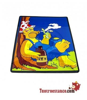 Alfombrilla Rectangular Homer Simpson Pipe 30 x 25,5 cm
