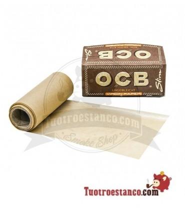 Papel OCB Virgin Rollo Slim de 4 m