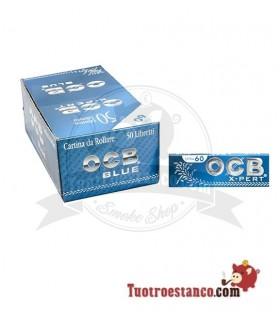 Papel OCB Azul X-pert de 70 mm - 50 libritos