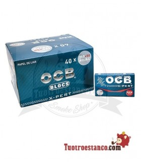 Papel OCB Azul Bloc 300 de 70 mm - 40 libritos