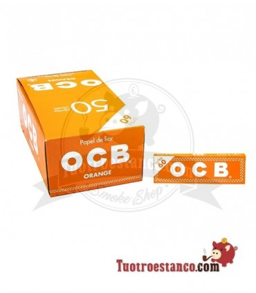 Papel OCB Naranja de 70 mm - 50 libritos
