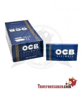 Papel OCB Ultimate Doble Ventana de 70 mm - 25 libritos