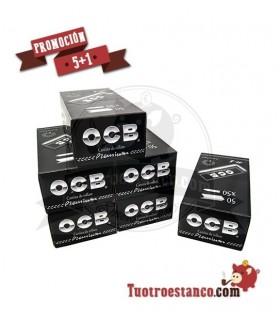 Papel OCB Premium de 70 mm 5 Estuches + 1 Gratis - 300 libritos