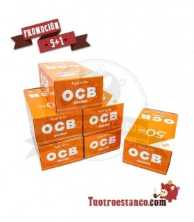 Papel OCB Naranja 5 Estuches + 1 Gratis - 300 libritos