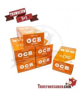 PROMOCIÓN 5+1 Papel OCB Orange (1x50)