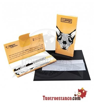 Papel Clipper Coleccionable King Size + Tips Premium Skull Animals