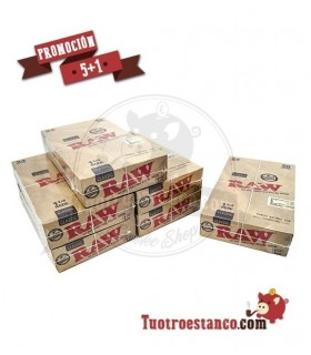 Papel RAW 1 1/4 5 Estuches + 1 Gratis - 144 libritos